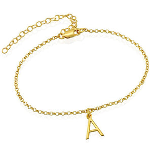 Personalized Gold Letter Anklet