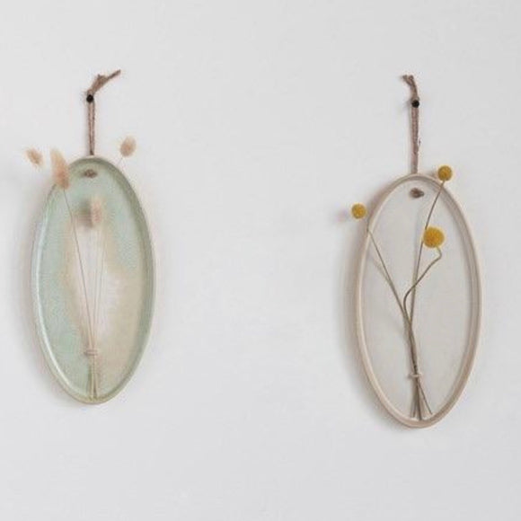 Stoneware Dried Flower Wall Hanging Set