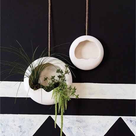 Stoneware Hanging Wall Planter