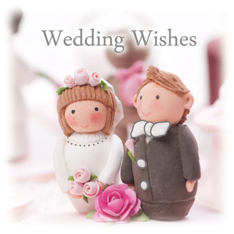 bride and groom wedding wishes gift tag
