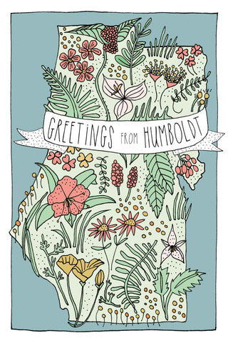 """Greetings from Humboldt"" Card"