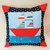club membership project nautical boat patchwork cushion