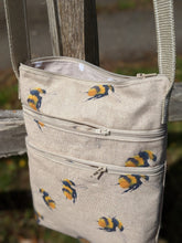 Load image into Gallery viewer, Triple zip bag bees sewing kit