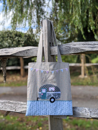 Caravan applique tote bag sewing pattern