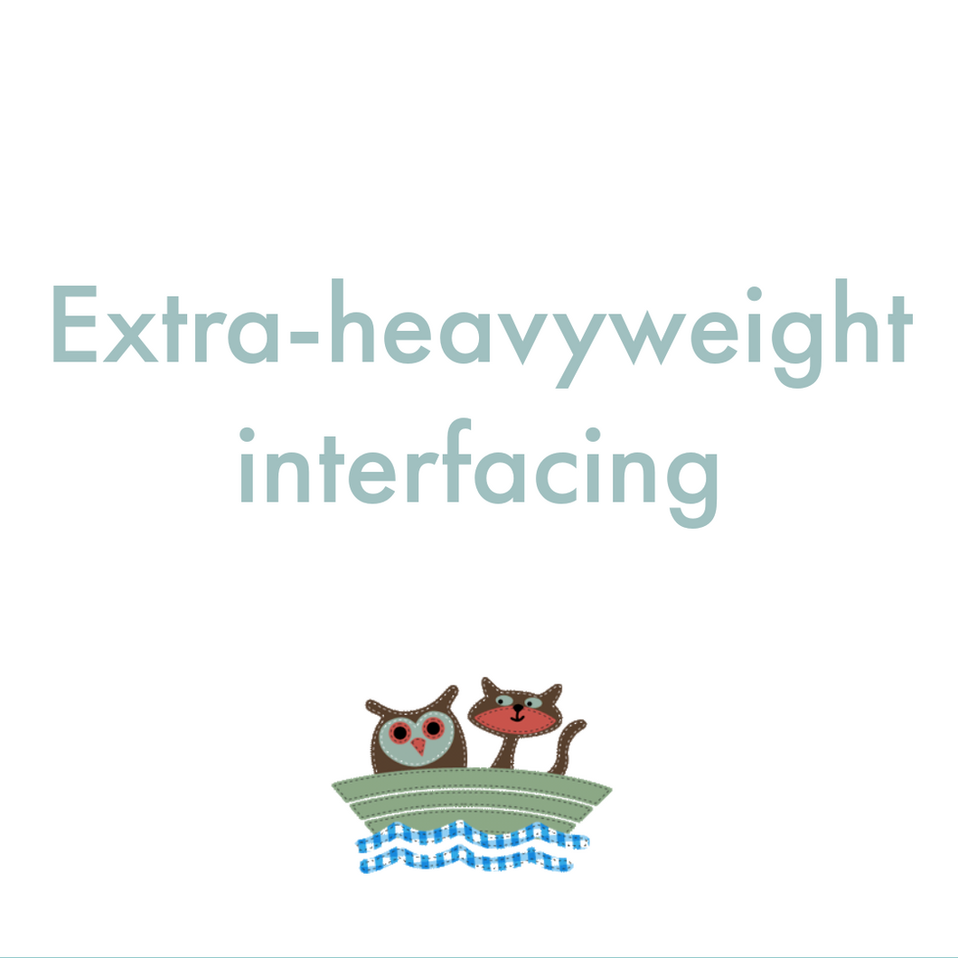 Interfacing Extra Heavy Weight Iron On