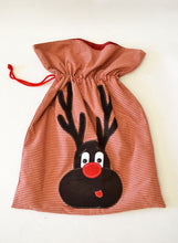 Load image into Gallery viewer, Christmas Reindeer Sack Pattern