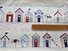 Load image into Gallery viewer, Nautical Beach huts heavyweight cotton - 1/2mtr