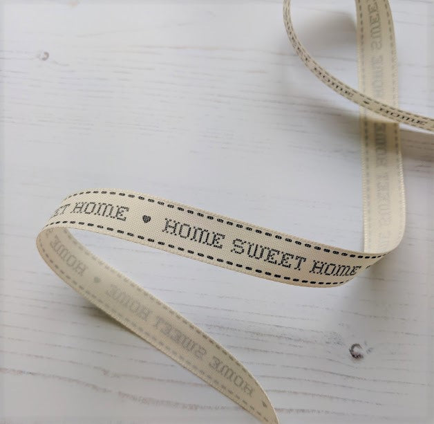 Home Sweet Home Ribbon - grey