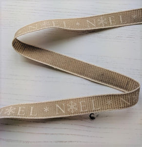 Noel Ribbon - Cream - used for Santa Doorstop