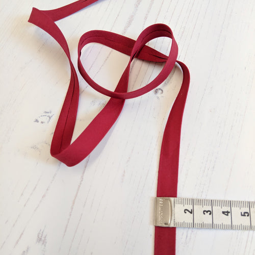burgundy bias binding