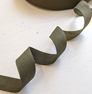 Strapping Khaki Green Nylon - 38mm - used for Oil Cloth Tote Bag