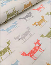 Load image into Gallery viewer, Cute foxy print heavyweight cotton fabric