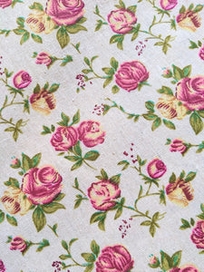 Vintage rose print heavyweight fabric - 1/2mtr