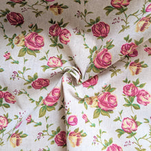 Load image into Gallery viewer, Vintage rose print heavyweight fabric - 1/2mtr