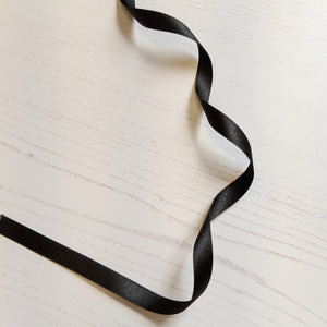 Black Satin Ribbon - 10mm