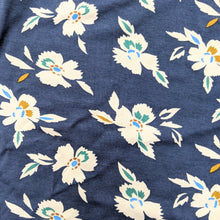 Load image into Gallery viewer, Pretty floral navy jersey fabric