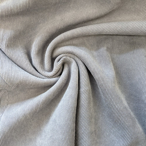 Soft Light Grey Cord Wide Fabric x 1/2mtr
