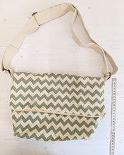 Load image into Gallery viewer, Slouch bag grey chevron Handmade Sample