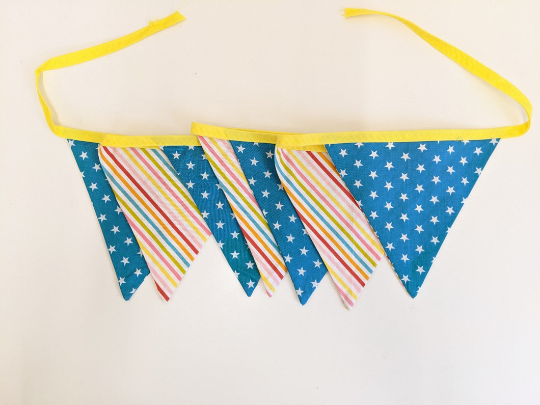 Rainbow bunting Handmade Sample