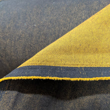 Load image into Gallery viewer, Denim two-tone mustard - 1/2mtr