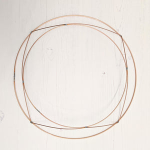 Copper wire wreath frame - 30cms