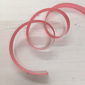 Bias Binding 20mm - pink spot