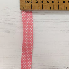 Load image into Gallery viewer, Bias Binding 20mm - pink spot
