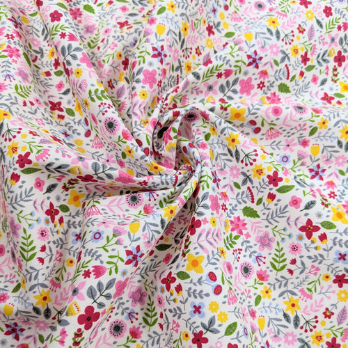 Spring ditsy floral cotton fabric - 1/2 metre