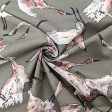 Load image into Gallery viewer, Flock of birds cotton lawn fabric - 1/2 mtr