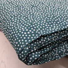 Load image into Gallery viewer, Dotty viscose fabric in fern green - 1/2mtr
