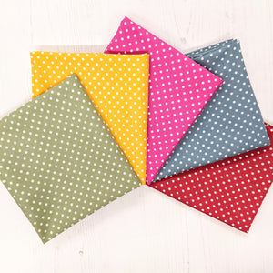 Half metre bundle 100% cotton - rainbow spots