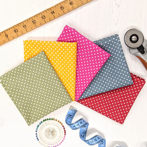 Fat quarter bundle 100% cotton - rainbow spots