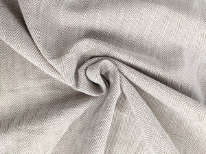 Herringbone Woven Heavyweight Fabric x 1/2 metre - Natural