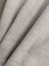 Load image into Gallery viewer, Herringbone Woven Heavyweight Fabric x 1/2 metre - Natural
