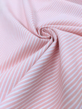 Load image into Gallery viewer, Pink pinstripe cotton fabric (wide) - 1/2 mtr