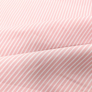 Pink pinstripe cotton fabric (wide) - 1/2 mtr