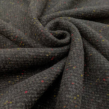 Load image into Gallery viewer, Fabric Remnant grey colour fleck wool - 1mtr
