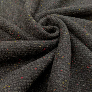 Fabric Remnant grey colour fleck wool - 1mtr
