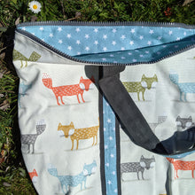 Load image into Gallery viewer, Tilly Bag sewing kit - foxes