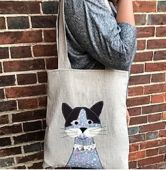 Cat Applique Tote Bag pattern