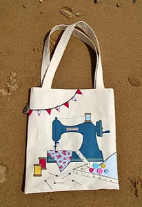 Sewer's Paradise Applique Tote Bag Pattern