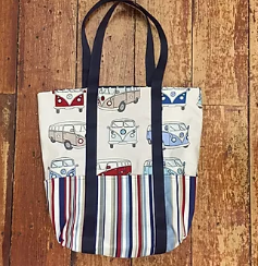 Beach Tote Bag with pockets Pattern