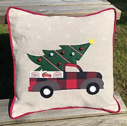 Truck Christmas Cushion Pattern