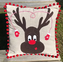 Load image into Gallery viewer, Reindeer Christmas Cushion Pattern