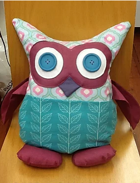 Owl Cushion with pocket pattern