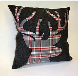 Christmas Stag Cushion Pattern