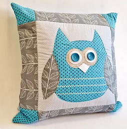 Applique cushion sewing pattern