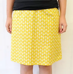 A line skirt sewing pattern
