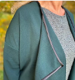 Load image into Gallery viewer, Waterfall Jacket kit in green (sizes 10-28)