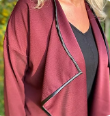 Load image into Gallery viewer, Waterfall Jacket kit in maroon (sizes 10-28)